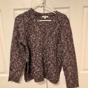 Madewell cable knit chunky pull-over sweater